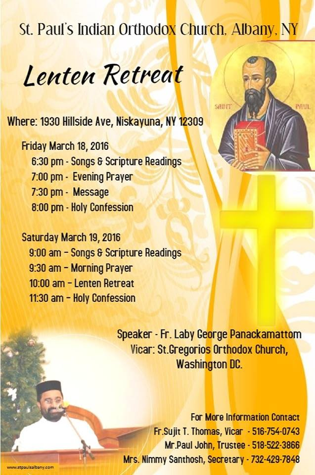 Lenten Retreat 2016